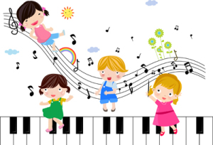 Children playing Musical